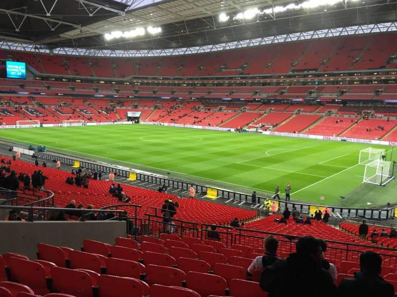 Seating view for Wembley Stadium Section 117 Row 40 Seat 178