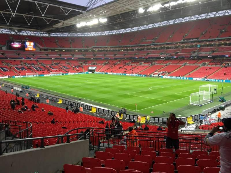 Seating view for Wembley Stadium Section 116 Row 40 Seat 152