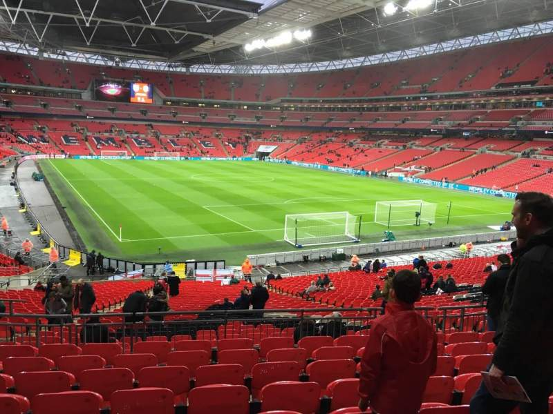 Seating view for Wembley Stadium Section 114 Row 39 Seat 89