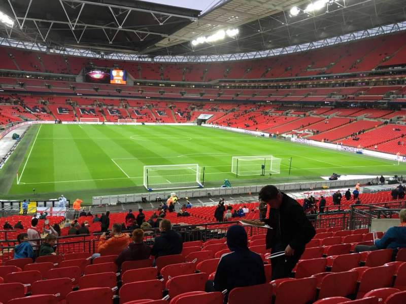 Seating view for Wembley Stadium Section 113 Row 40 Seat 62