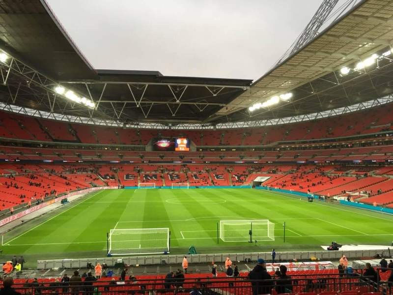 Seating view for Wembley Stadium Section 112 Row 41 Seat 30