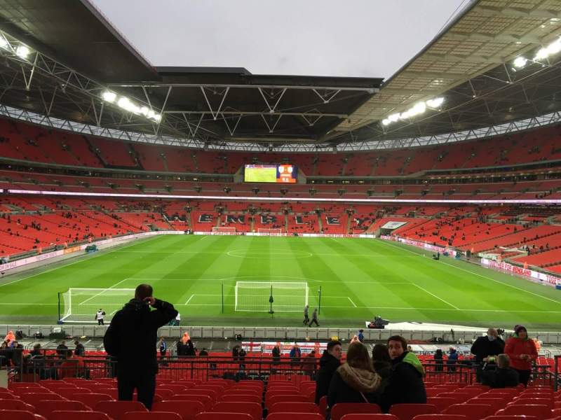 Seating view for Wembley Stadium Section 111 Row 52 Seat 2