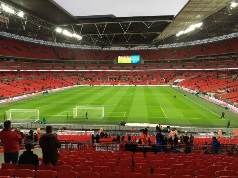 Seating view for Wembley Stadium Section 110 Row 44 Seat 244