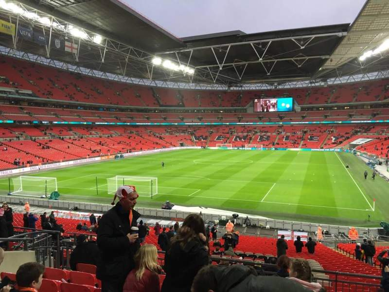 Seating view for Wembley Stadium Section 110 Row 38 Seat 213