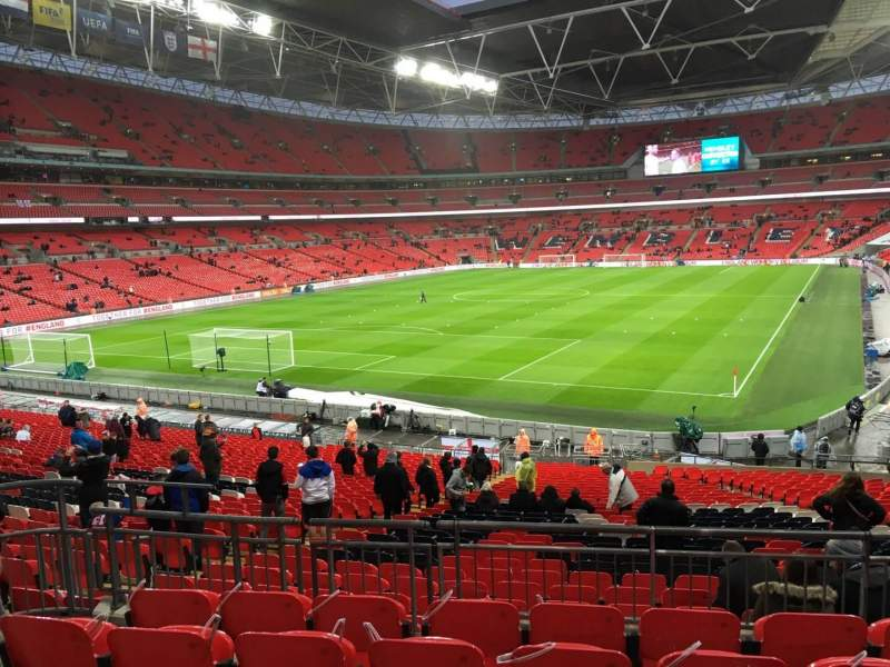 Seating view for Wembley Stadium Section 109 Row 36 Seat 187