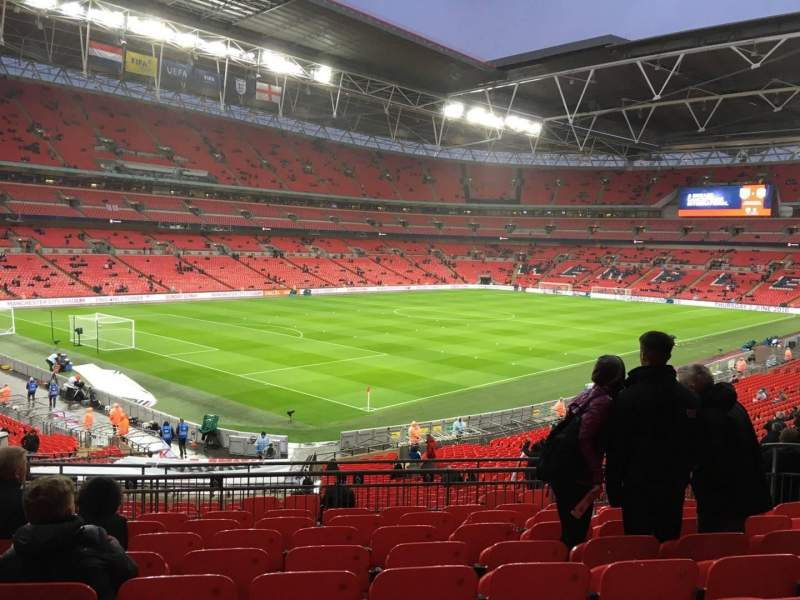 Seating view for Wembley Stadium Section 107 Row 39 Seat 127