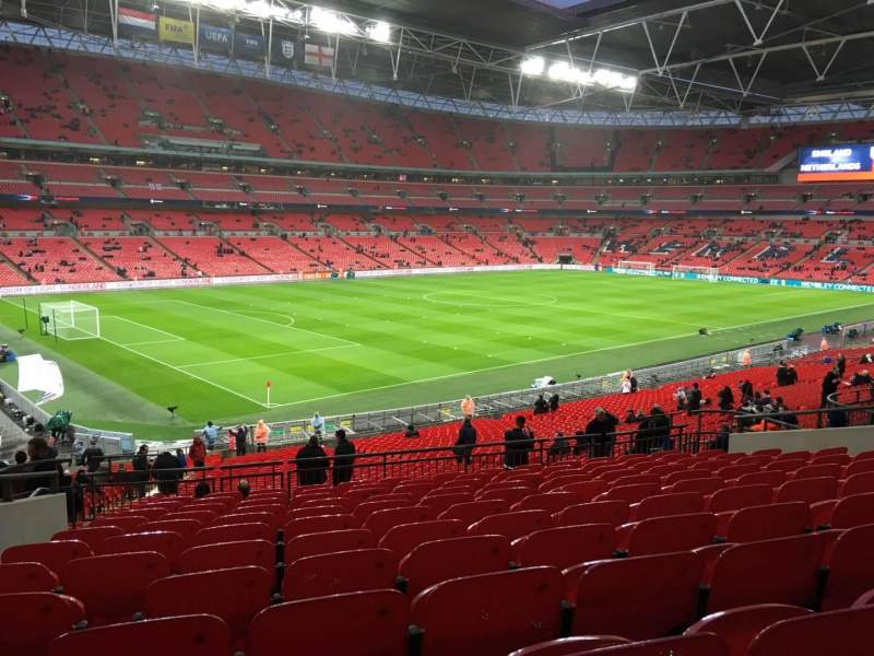 Seating view for Wembley Stadium Section 106 Row 42 Seat 100