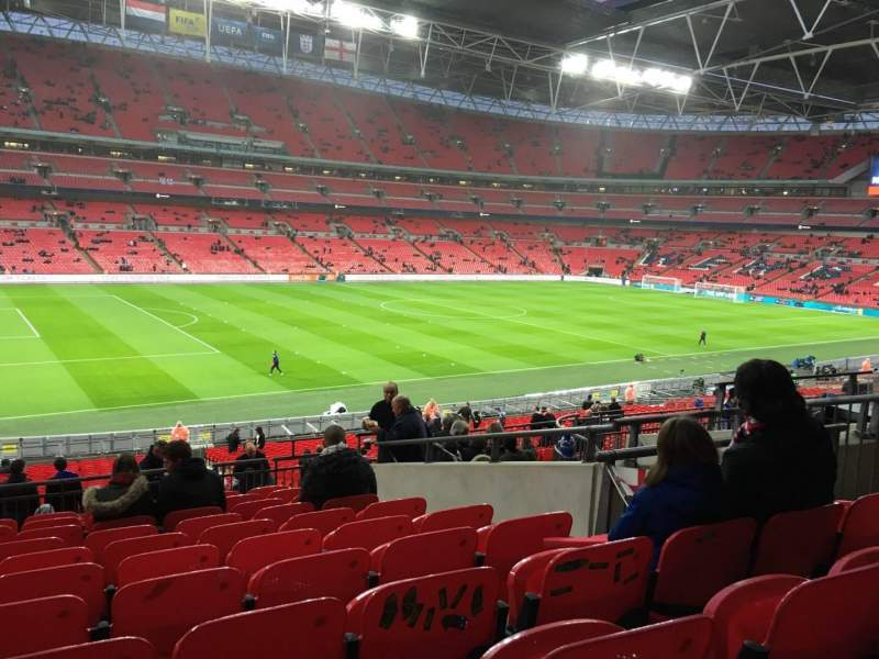 Seating view for Wembley Stadium Section 105 Row 41 Seat 62