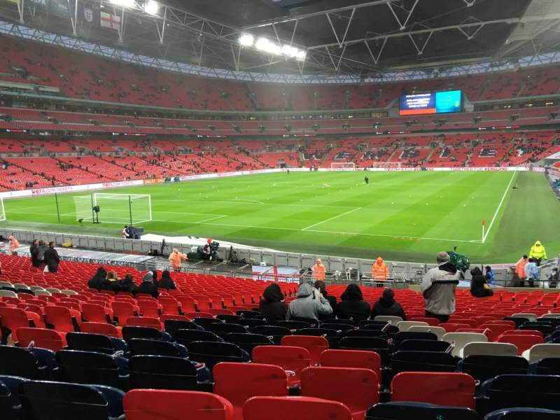 Seating view for Wembley Stadium Section 109 Row 27 Seat 188