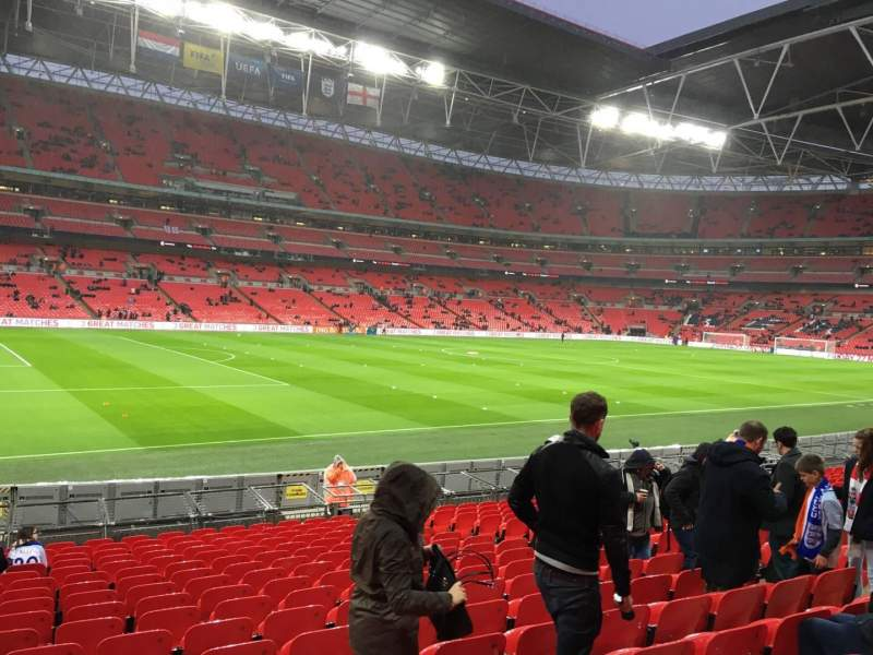 Seating view for Wembley Stadium Section 106 Row 18 Seat 66