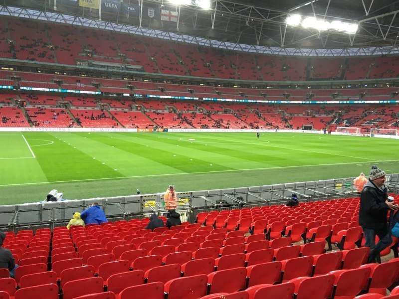 Seating view for Wembley Stadium Section 105 Row 17 Seat 35