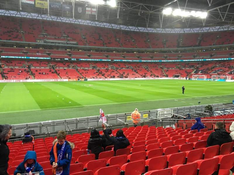 Seating view for Wembley Stadium Section 104 Row 16 Seat 15