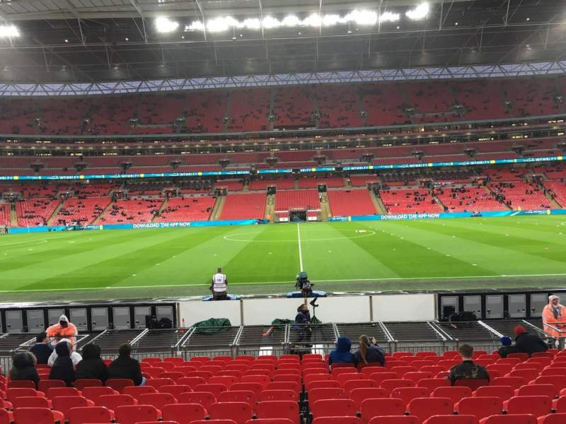 Seating view for Wembley Stadium Section 122 Row 15 Seat 1