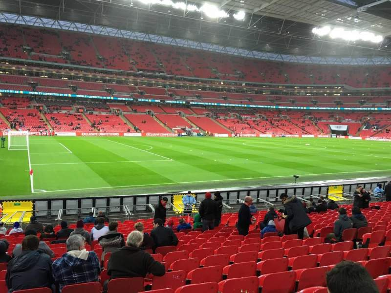 Seating view for Wembley Stadium Section 126 Row 20 Seat 114