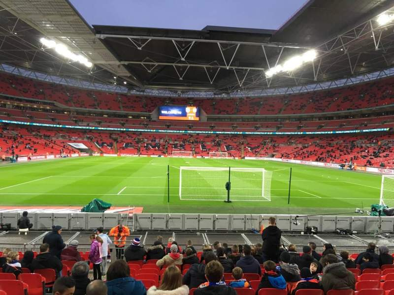 Seating view for Wembley Stadium Section 133 Row 16 Seat 10