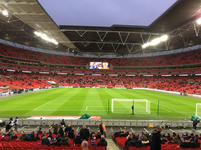 Seating view for Wembley Stadium Section 134 Row 25 Seat 17