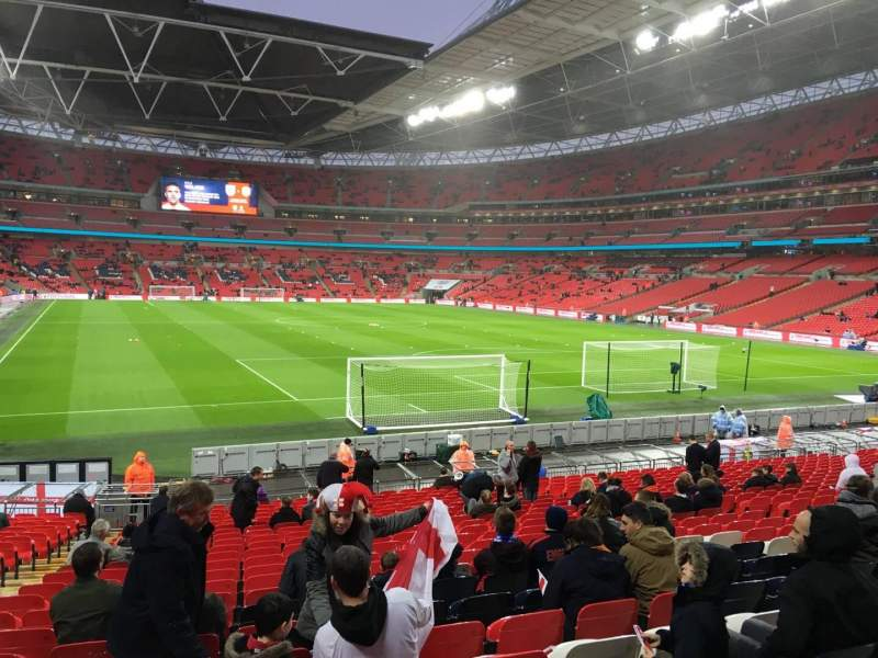 Seating view for Wembley Stadium Section 112 Row 24 Seat 63