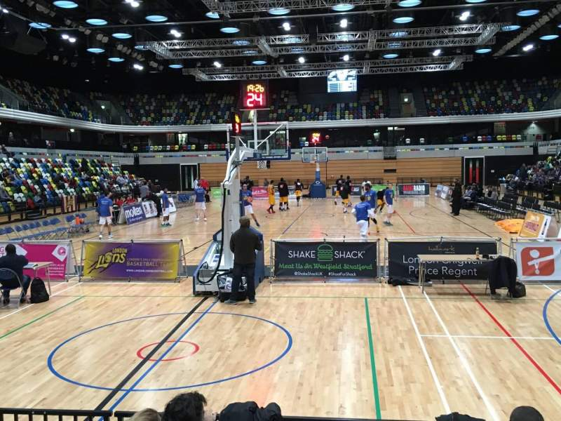 Seating view for Copper Box Arena Section 114 Row 5 Seat 50