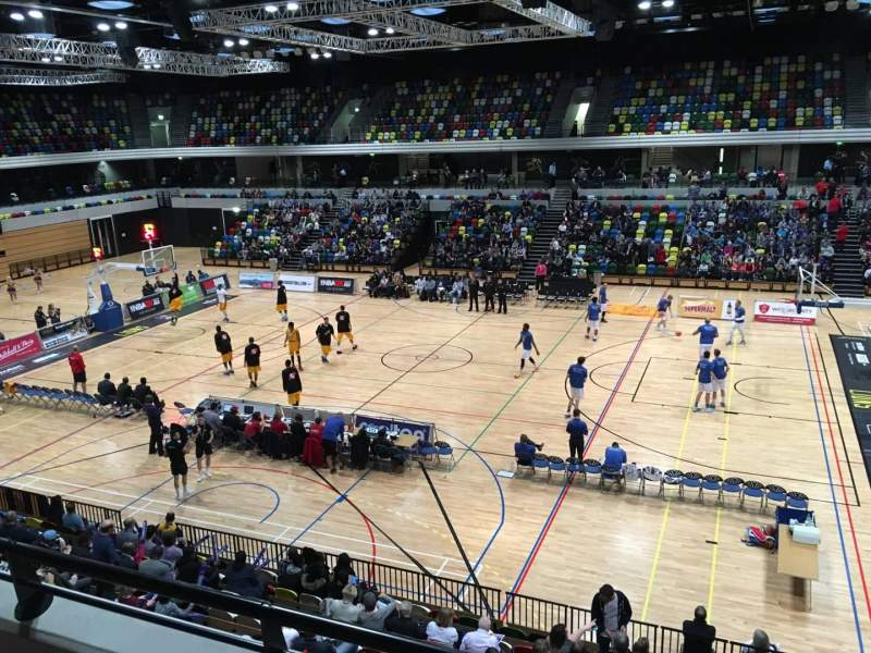 Seating view for Copper Box Arena Section 203 Row 12 Seat 56