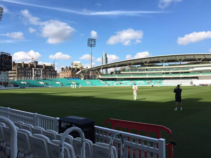 Seating view for Kia Oval Section Pavilion Terrace Row D Seat 5