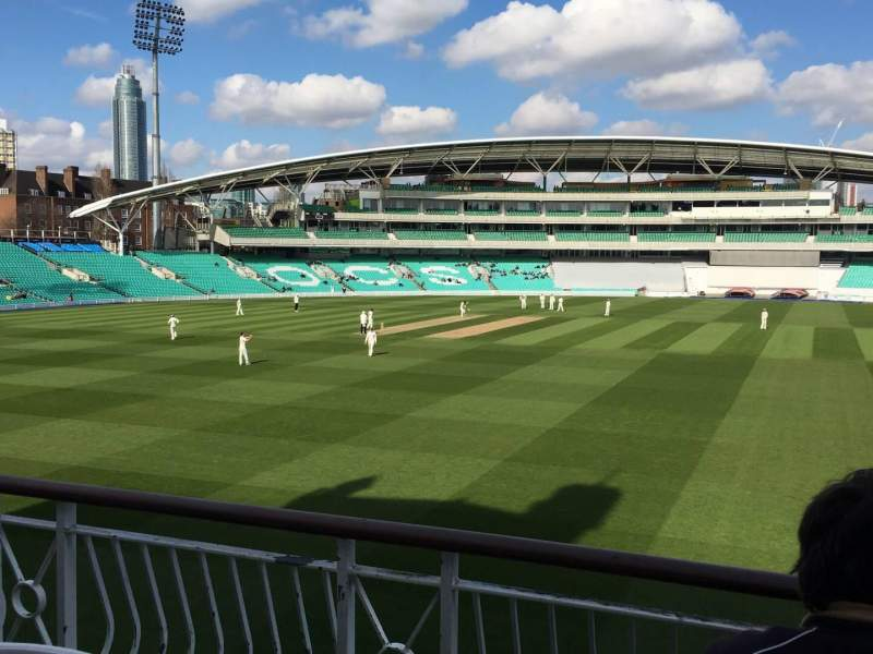 Seating view for Kia Oval Section Pavilion Balcony Row C Seat 48