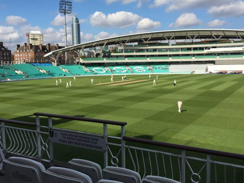 Seating view for Kia Oval Section Pavilion Balcony Row D Seat 16
