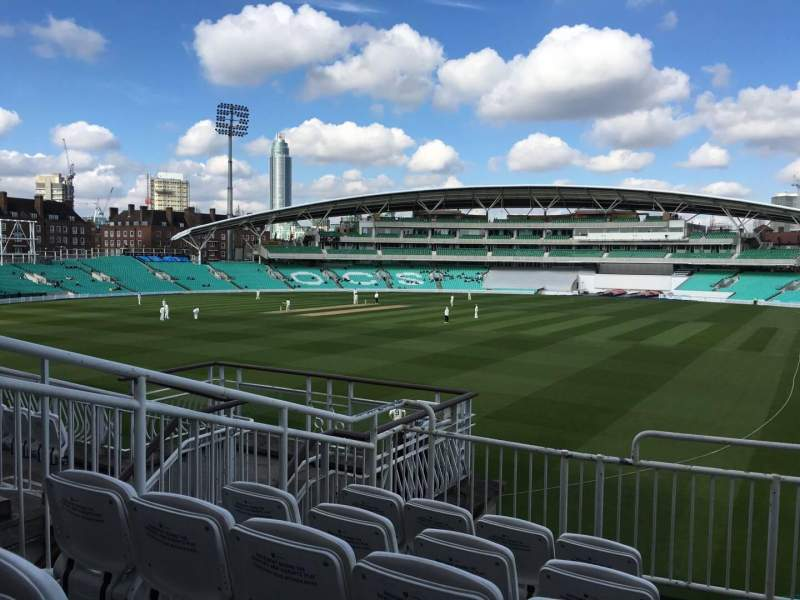 Seating view for Kia Oval Section Lock Laker Stand Balcony Row E Seat 6