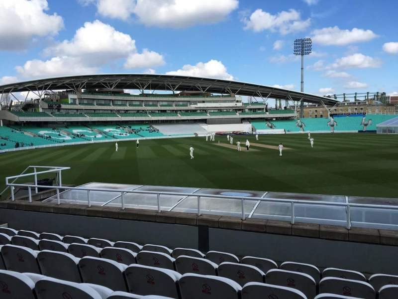 Seating view for Kia Oval Section Bedser Stand, Lower Row F Seat 66