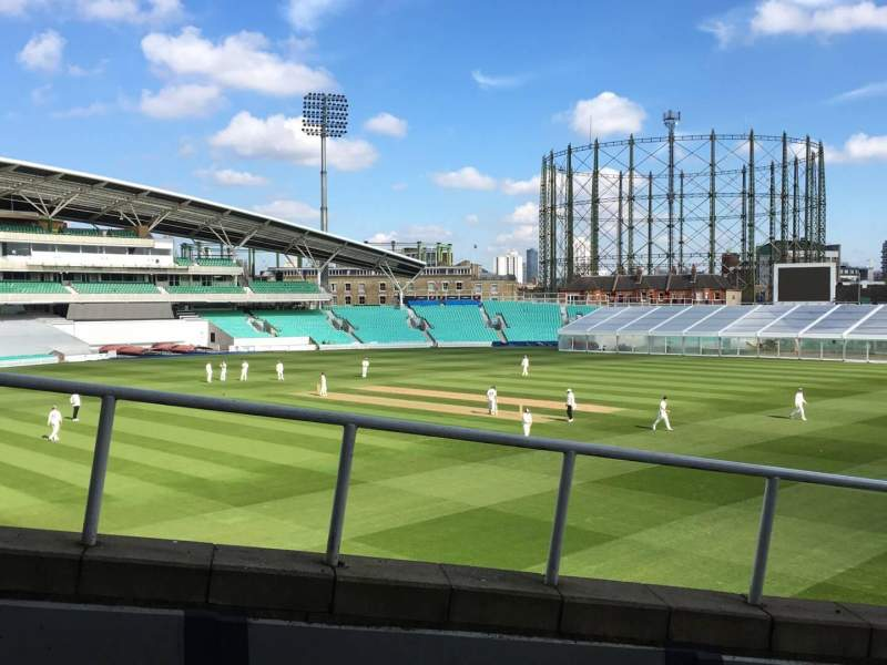 Seating view for Kia Oval Section Bedser Stand, Lower Row P Seat 120