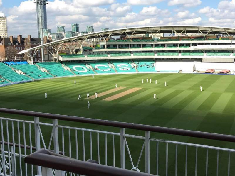 Seating view for Kia Oval Section Pavilion Top Row F Seat 7