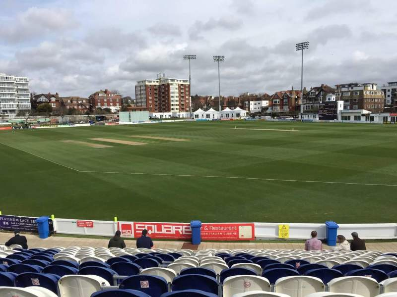 Seating view for County Cricket Ground (Hove) Section C Row Q Seat 50