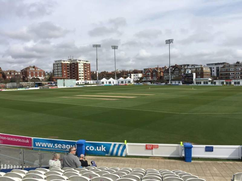 Seating view for County Cricket Ground (Hove) Section E Row M Seat 90