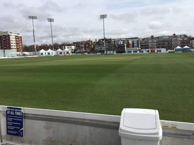 Seating view for County Cricket Ground (Hove) Section Grand Stand Row A Seat 7