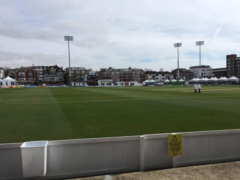 Seating view for County Cricket Ground (Hove) Section Grandstand G Row C Seat 95