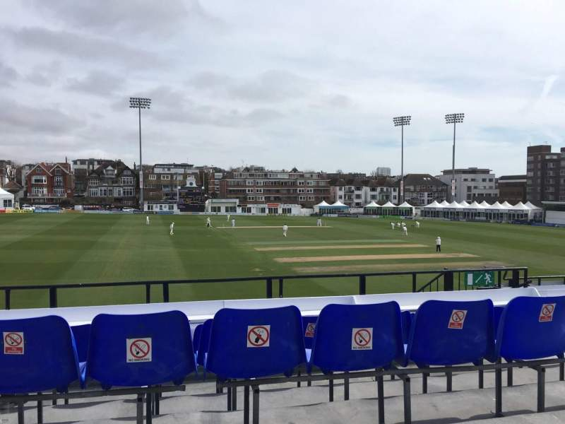Seating view for County Cricket Ground (Hove) Section Upper Grandstand M Row D Seat 6