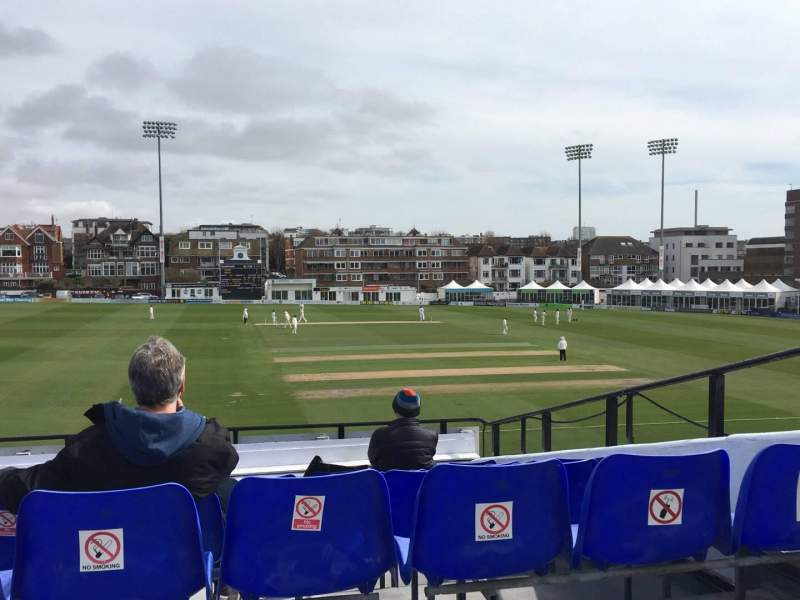 Seating view for County Cricket Ground (Hove) Section Upper Grandstand J Row Bench