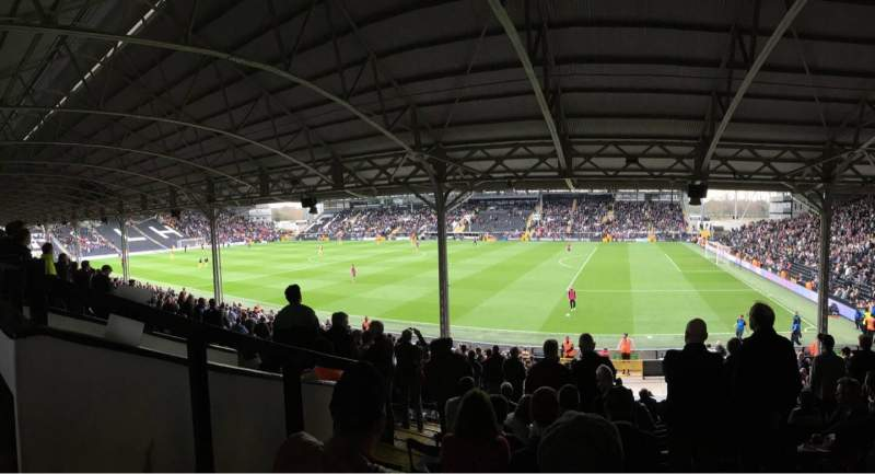 Seating view for Craven Cottage Section B Row N Seat 13