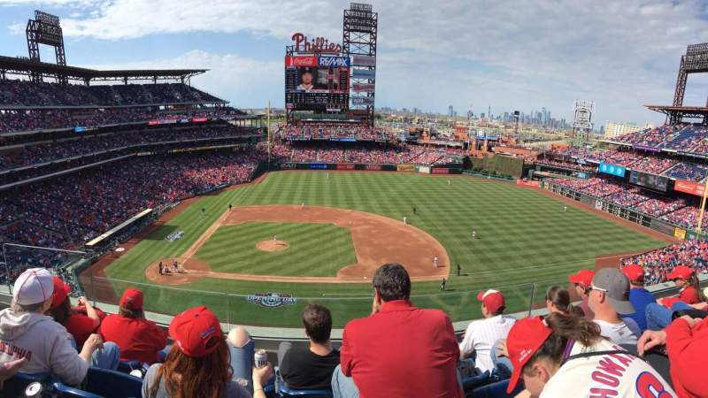 Seating view for Citizens Bank Park Section 315 Row 4 Seat 20