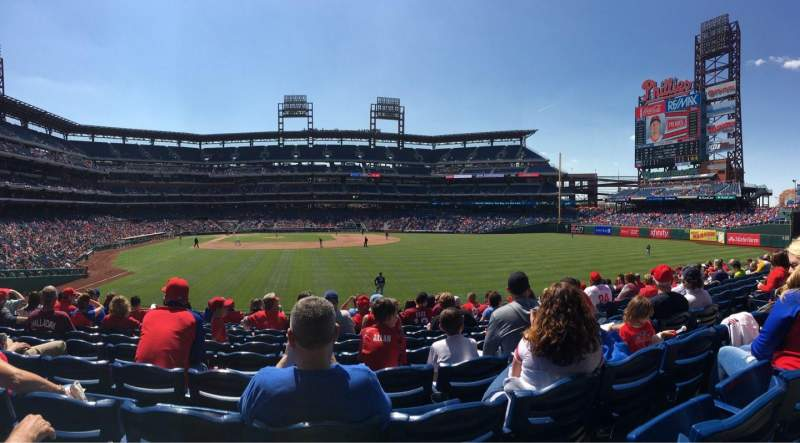 Citizens Bank Park, section: 105, row: 11, seat: 8