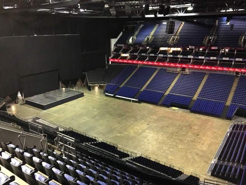 Seating view for The O2 Arena Section 406 Row L Seat 580