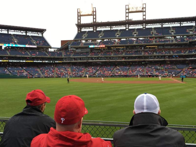 Seating view for Citizens Bank Park Section 142 Row 3 Seat 3
