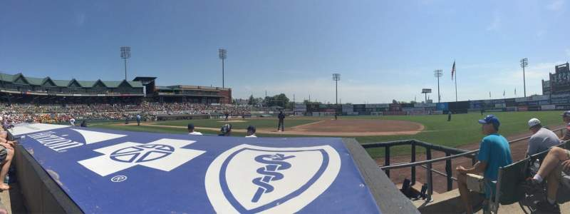Seating view for TD Bank Ballpark Section 115 Row C Seat 1