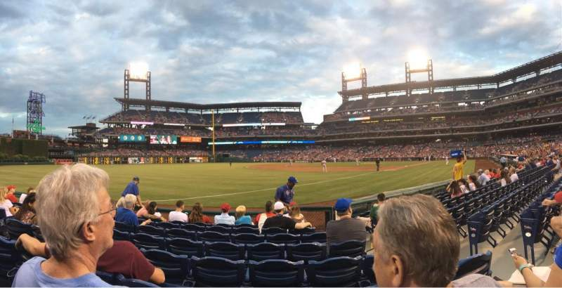 Seating view for Citizens Bank Park Section 137 Row 8 Seat 4