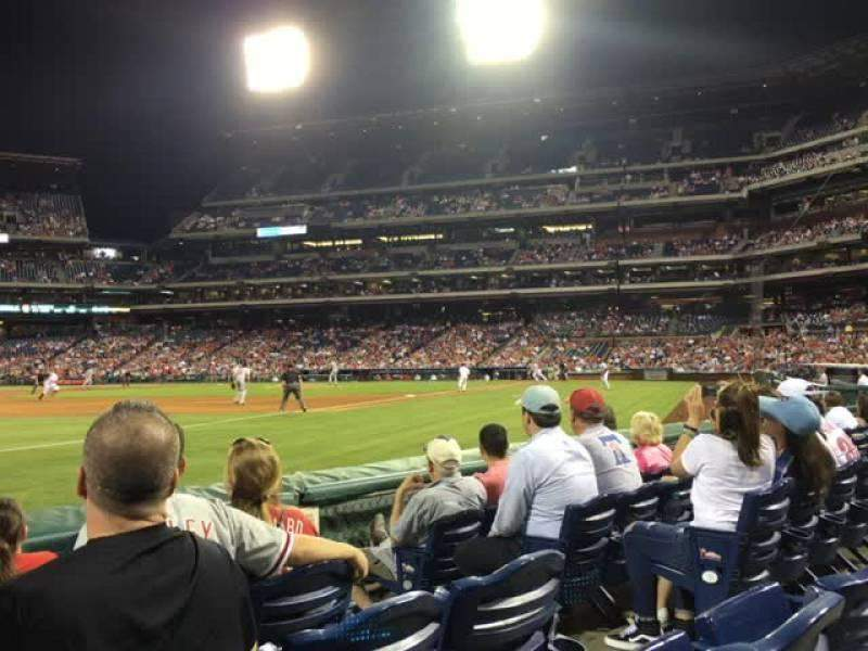 Seating view for Citizens Bank Park Section 136 Row 5 Seat 5