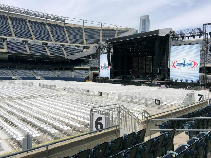 Seating view for Soldier Field Section 108 Row 6 Seat 11