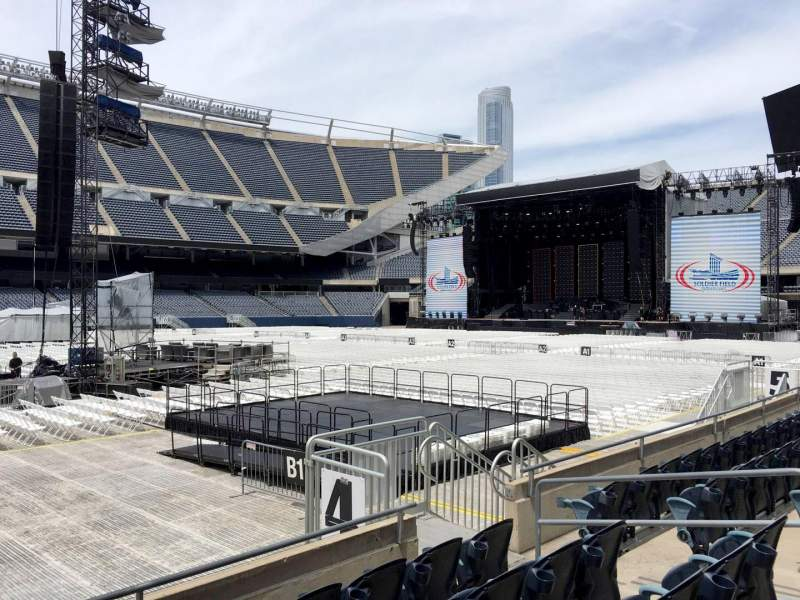 Seating view for Soldier Field Section 111 Row 5 Seat 10