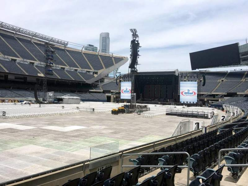 Seating view for Soldier Field Section 115 Row 6 Seat 10