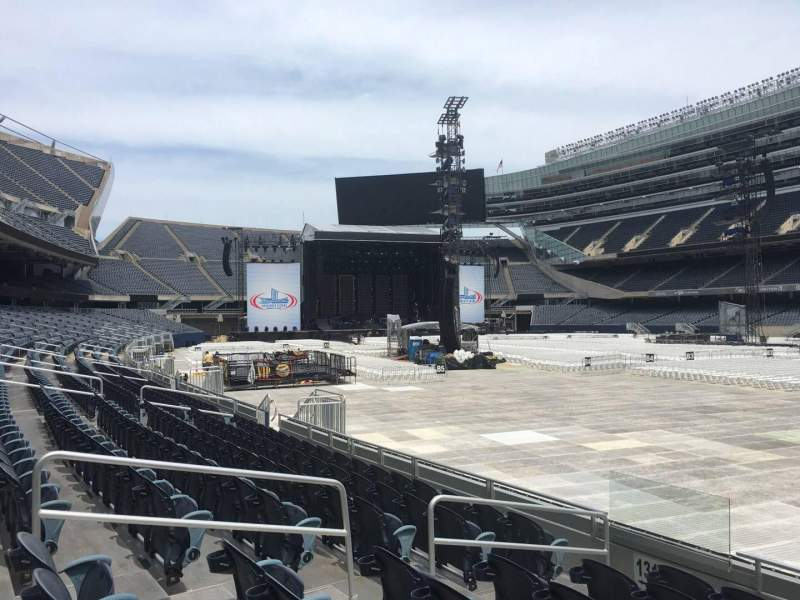 Seating view for Soldier Field Section 128 Row 7 Seat 9