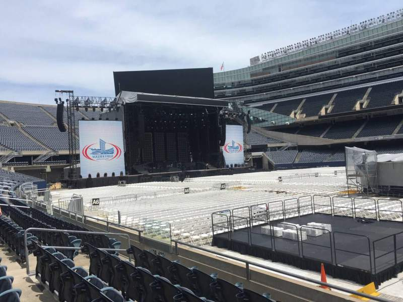 Seating view for Soldier Field Section 134 Row 5 Seat 13