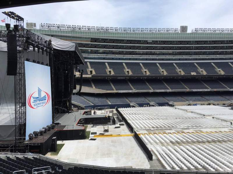 Seating view for Soldier Field Section 243 Row 3 Seat 11
